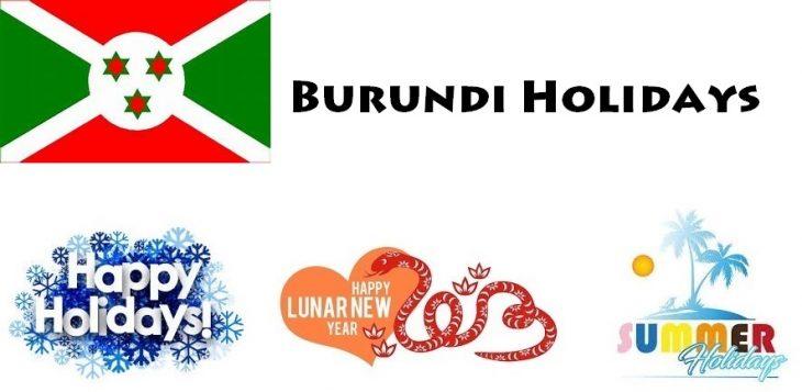 Holidays in Burundi