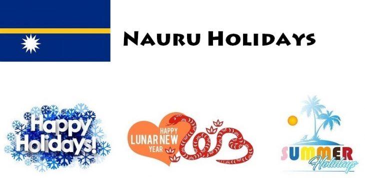 Holidays in Nauru