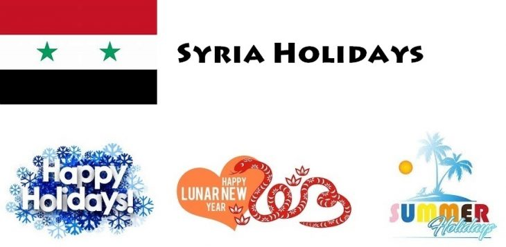 Holidays in Syria