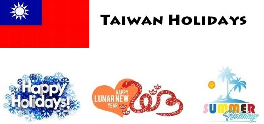 Holidays in Taiwan