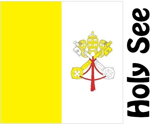 Holy See Country Flag