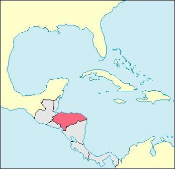 Honduras Location Map