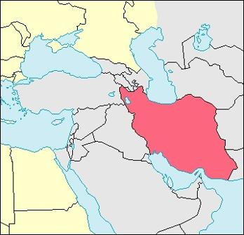 Iran Location Map