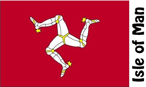 Isle of Man Country Flag