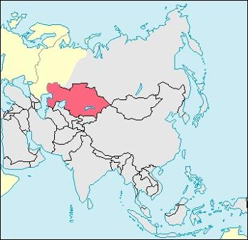 Kazakhstan Location Map