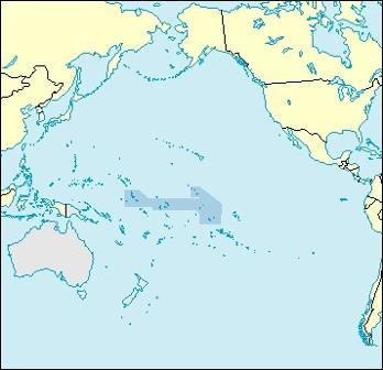 Kiribati Location Map