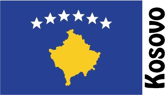 Kosovo Country Flag