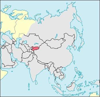 Kyrgyzstan Location Map
