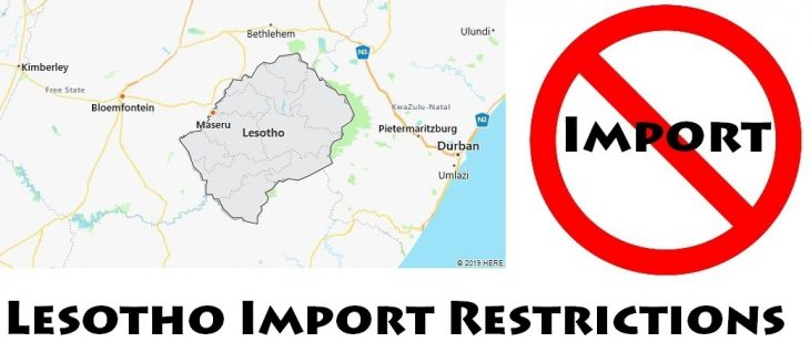 Lesotho Import Regulations