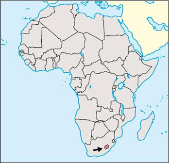 Lesotho Location Map