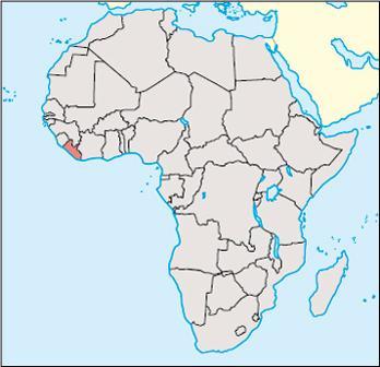 Liberia Location Map