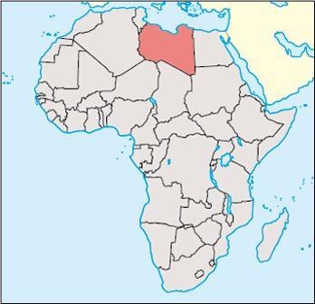 Libya Location Map