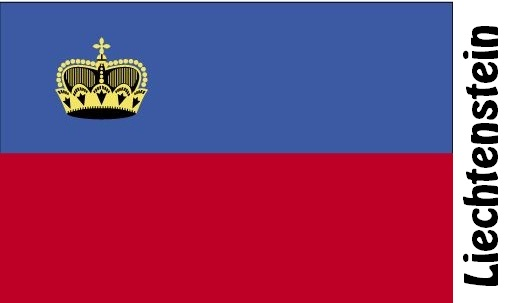 Liechtenstein Country Flag