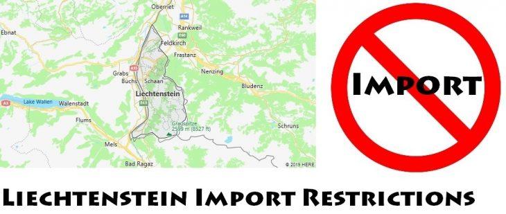 Liechtenstein Import Regulations