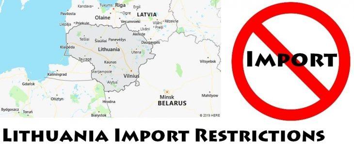 Lithuania Import Regulations