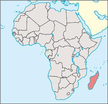 Madagascar Location Map