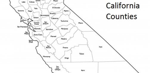 Map of California Counties