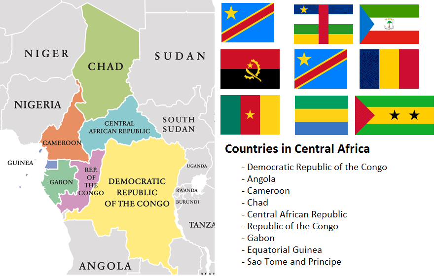 Map of Central African Countries