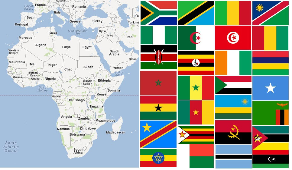 List of All Countries in Africa – Countryaah.com