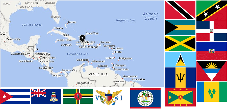 From https://www.countryaah.com/caribbean-countries/