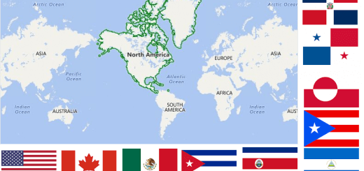 Map of North American Countries