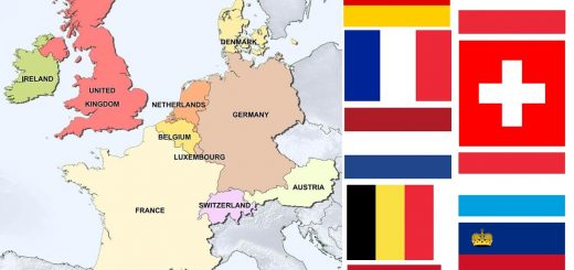 Map of Countries in Western Europe