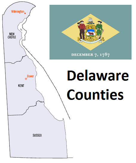 Map of Delaware Counties