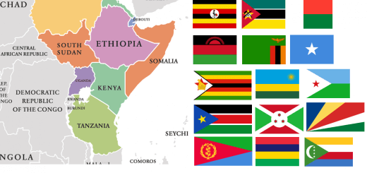 Map of East African Countries