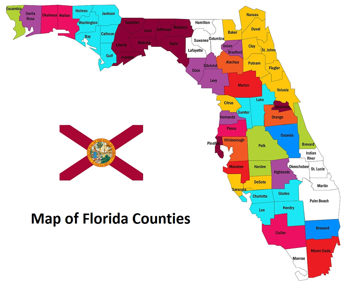 Map of Florida Counties