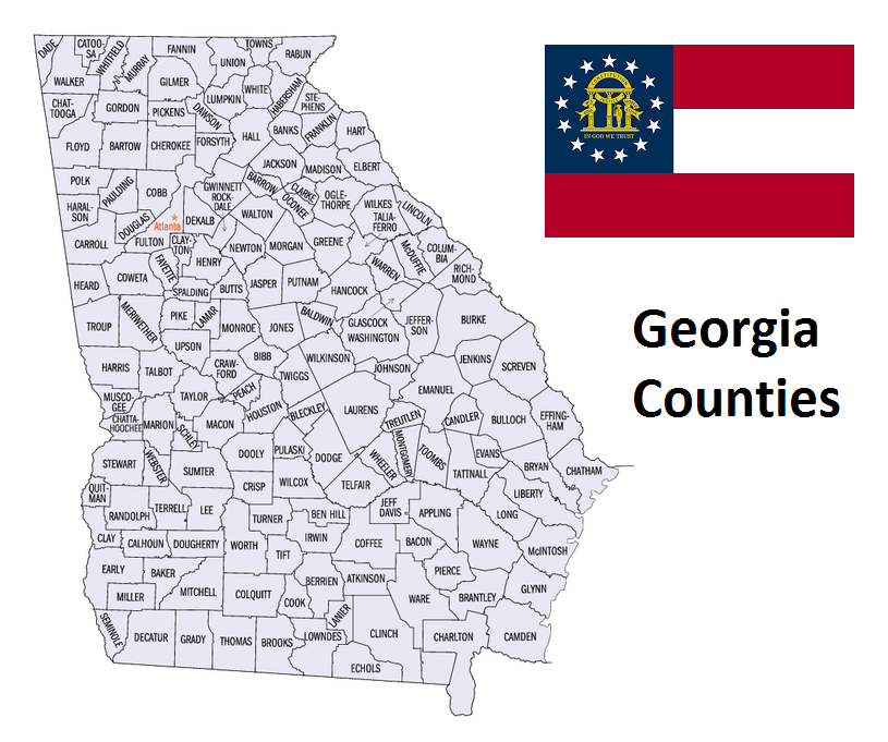 Map of Georgia Counties