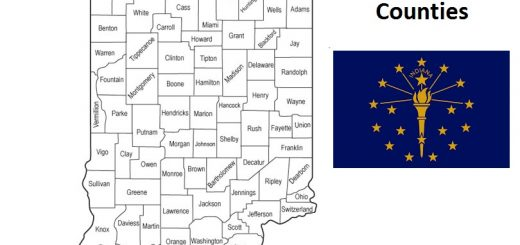 Map of Indiana Counties