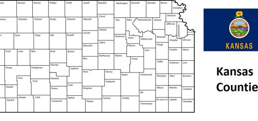 Map of Kansas Counties