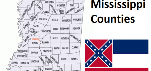 Map of Mississippi Counties