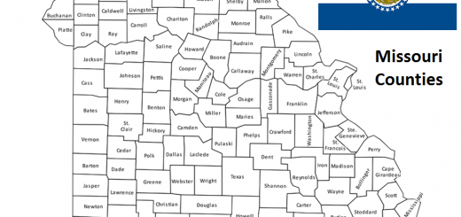 Map of Missouri Counties
