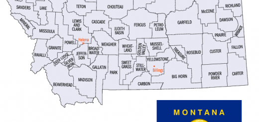 Map of Montana Counties