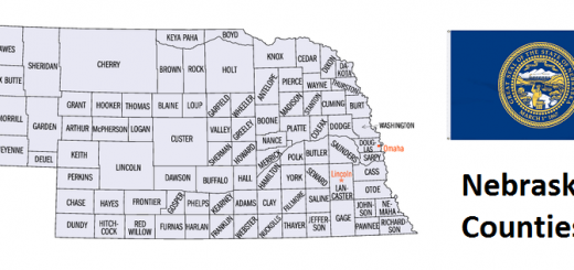 Map of Nebraska Counties