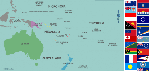 Map of Oceania Countries