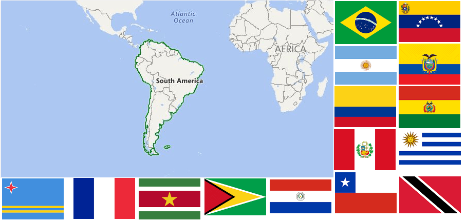 List of All Countries in South America - Bridgat Country Profiles