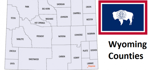 Map of Wyoming Counties