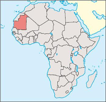 Mauritania Location Map