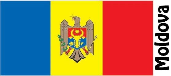 Moldova Country Flag