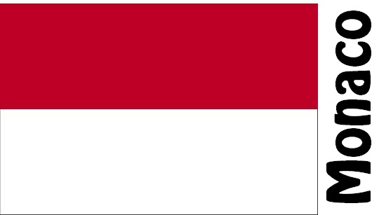 Monaco Country Flag