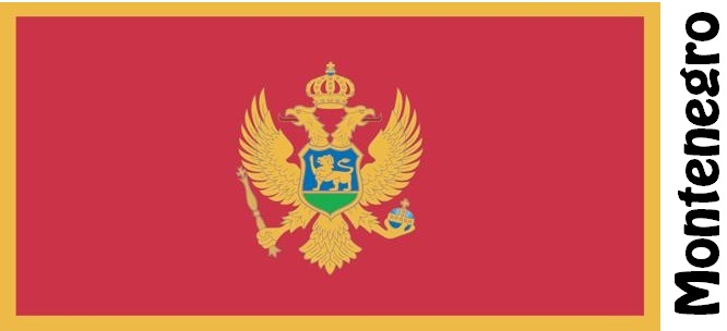 Montenegro Country Flag