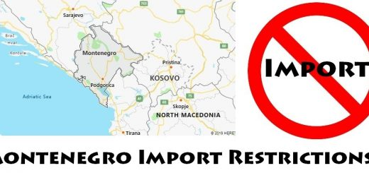 Montenegro Import Regulations