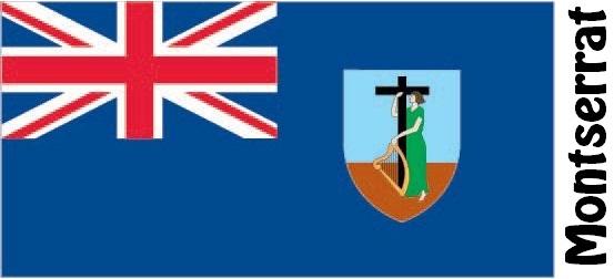Montserrat Country Flag