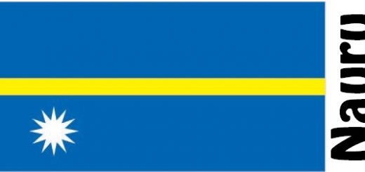 Nauru Country Flag