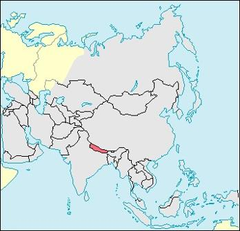 Nepal Location Map