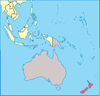 New Zealand Location Map