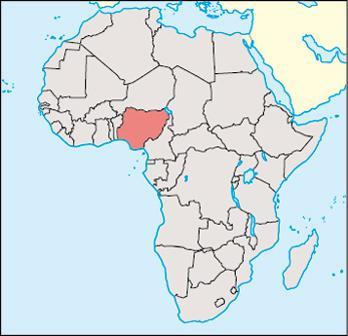 Nigeria Location Map