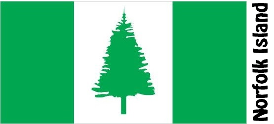 Norfolk Island Country Flag